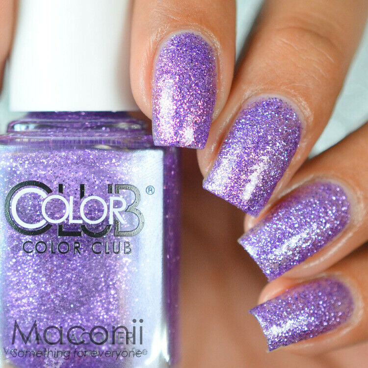 Who Sells Color Club Nail Polish: Purple Lilac Violet Glitter