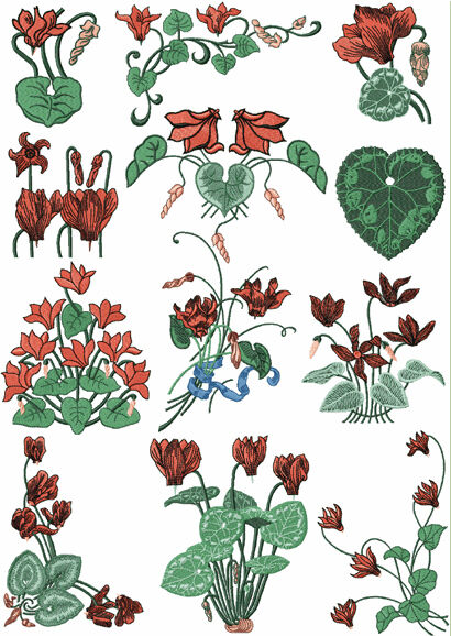 Abc designs freestyle cyclamens machine embroidery designs for Embroidery office design 7 5 full