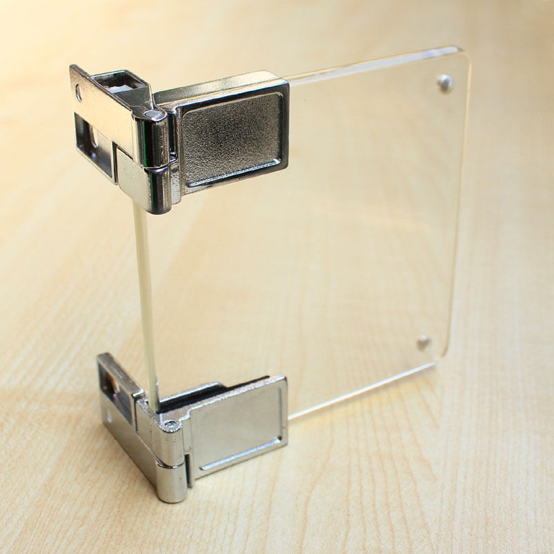 glass cupboard cabinet door clamp hinge chrome ebay