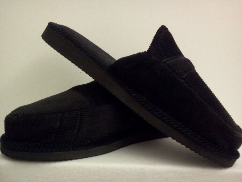 black corduroy house shoes loox slippers new free shipping