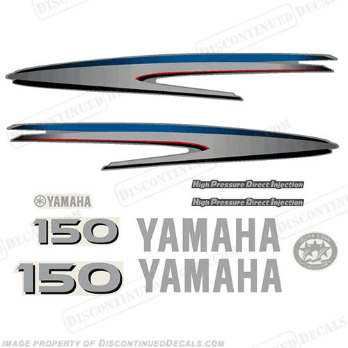 Yamaha outboard motor decal kit 150hp hpdi kit marine for Yamaha replacement decals