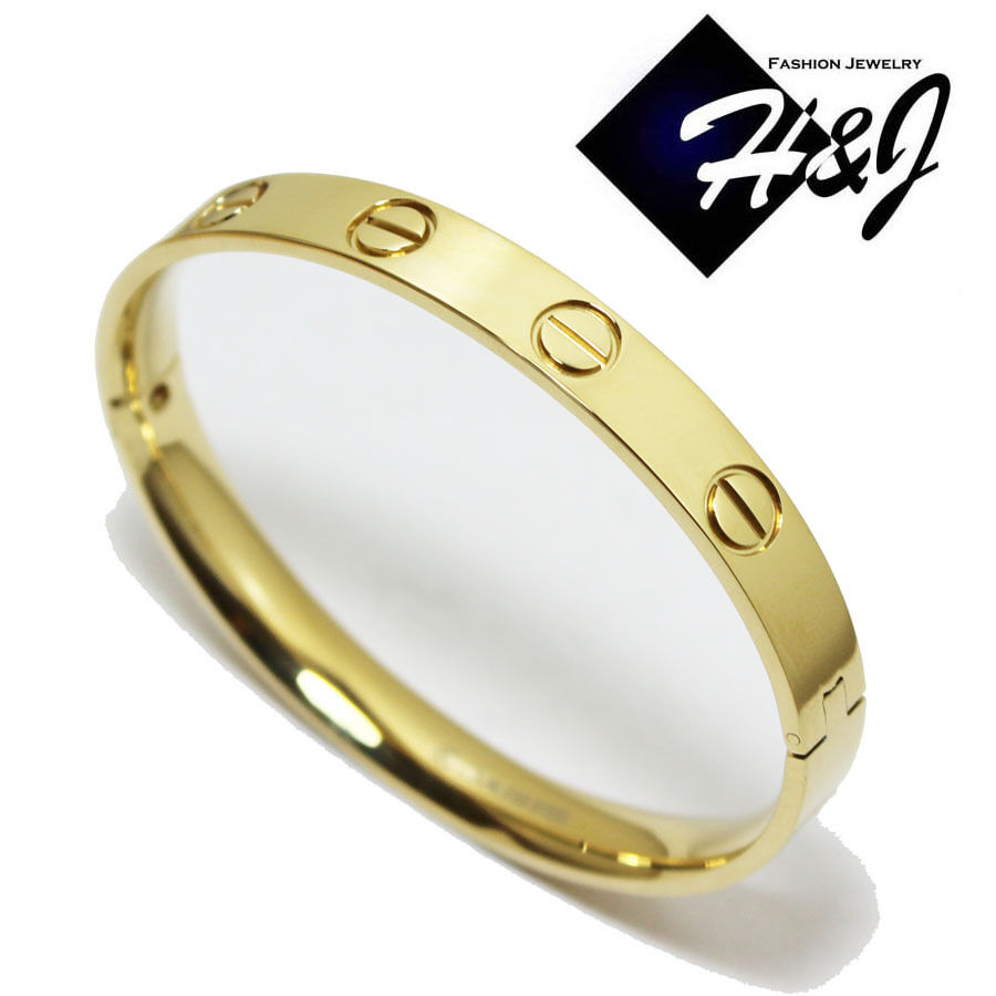 gold handcuff bracelet s s stainless steel 8mm gold bangle handcuff 7031