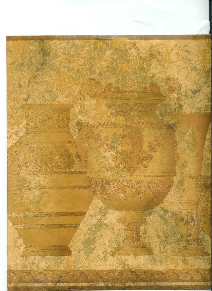 grecian gold pottery wallpaper border ebay