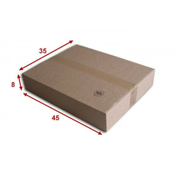 50 boîtes emballages cartons  n° 57   - 450x350x80 mm - simple cannelure