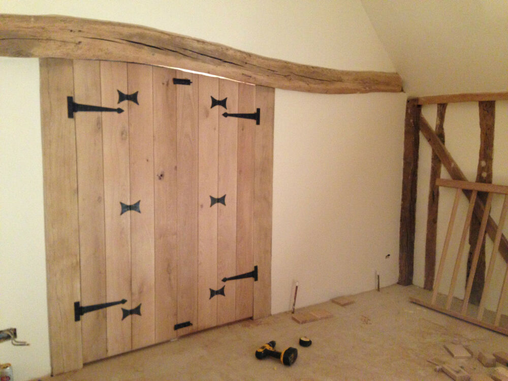 Solid Oak Doors T&G Ledge Pencil Bead Farmhouse Cottage Barn Doors Hand