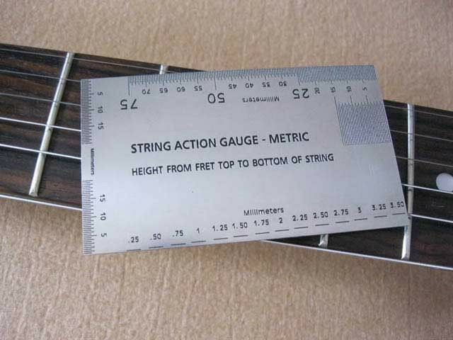 string action gauge in metric guitar measuring tool luthier tool ebay. Black Bedroom Furniture Sets. Home Design Ideas