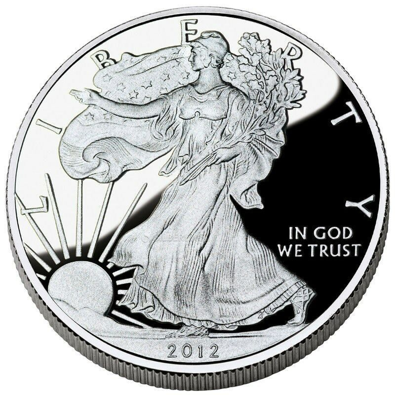 2012 American Silver Eagle Dollar Us Coin 1 Troy Ounce 999
