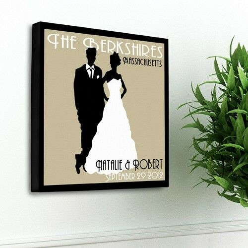 Personalized Wall Art Decor: Personalized Wedding Canvas Personalized Art Art Couples
