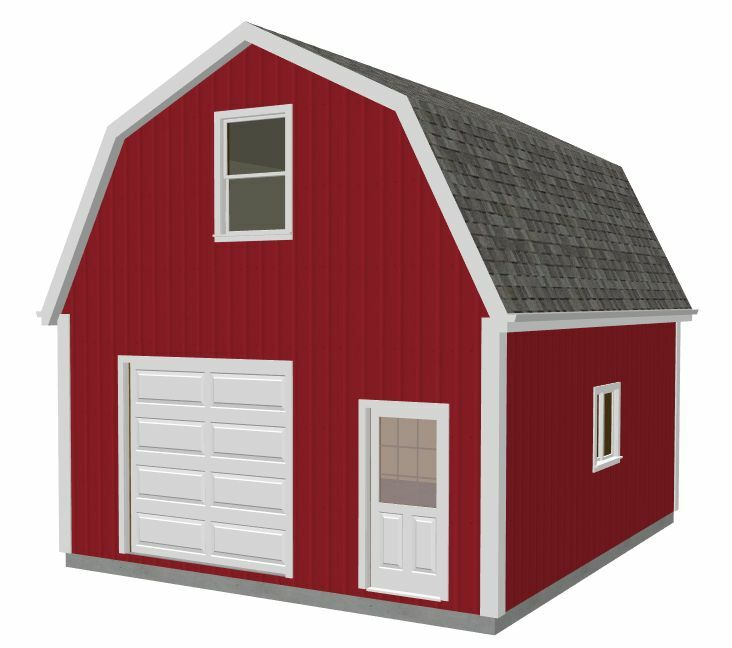Gambrel barn plans ebay for Gambrel pole barn plans