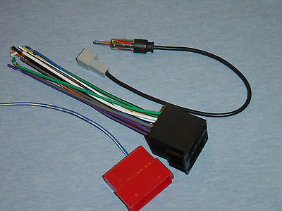 2005 2006 kia spectra horn wiring radio install stereo wire harness+antenna adapter combo ...