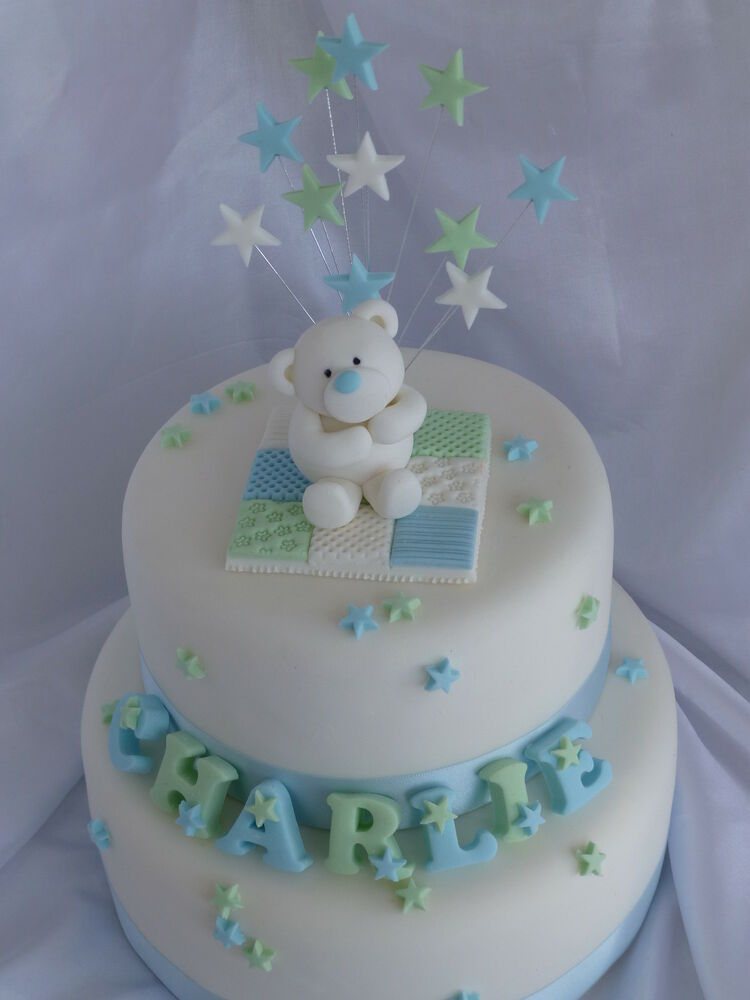 Teddy Bear Name Blanket Topper Amp Stars Christening