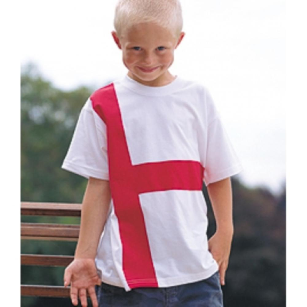 st george england flag t shirt childrens kids all sizes 3