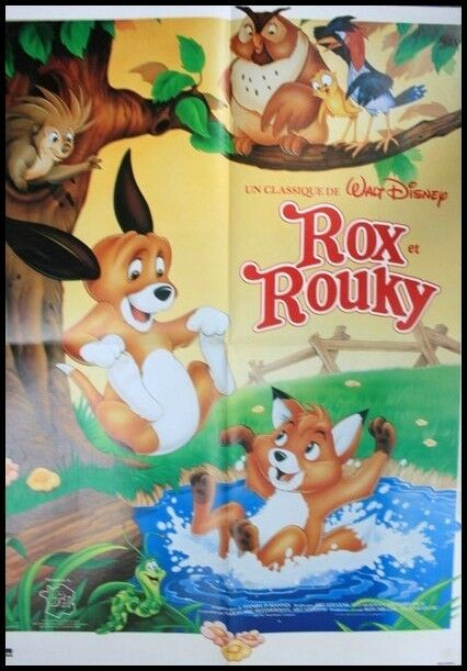 Rox et rouky affiche cin ma originale french movie poster walt disney ebay for Poster et affiche