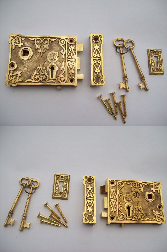 Solid cast aged brass georgian victorian old style door - Old fashioned interior door locks ...