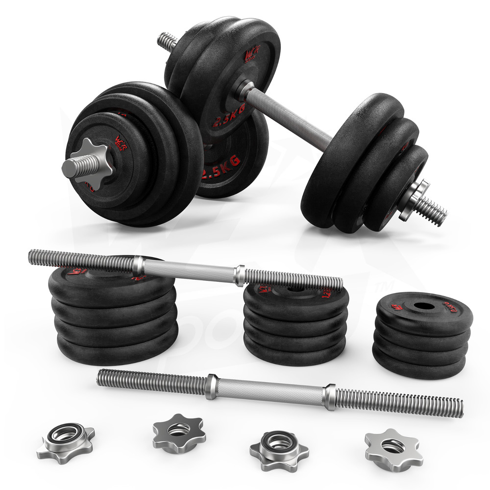 Free Weights Strength Training: 20kg Dumbbell Set Gym Cast Iron Free Weights Biceps Gym