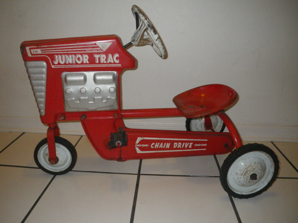 Junior Pedal Tractors Antique : Working vintage amf pedal car farm tractor junior trac b