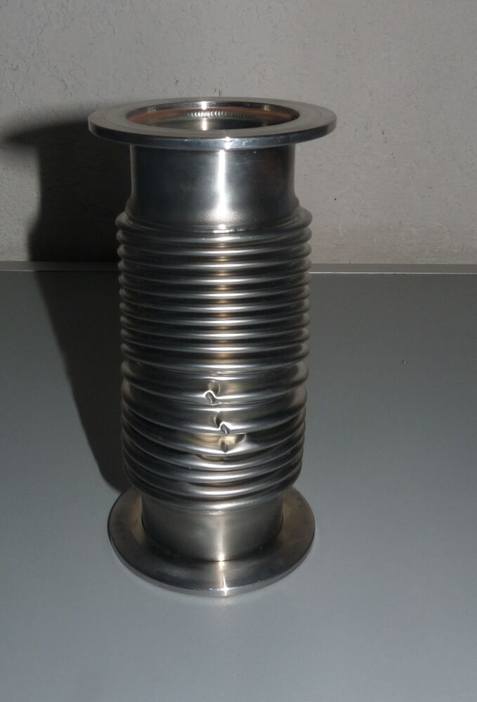 Vacuum fitting stainless steel flexible bellow hose kf