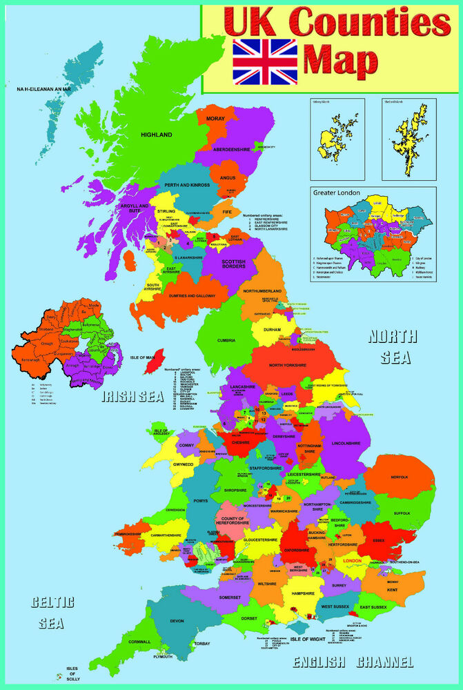 UK: England: Counties - Map Quiz Game
