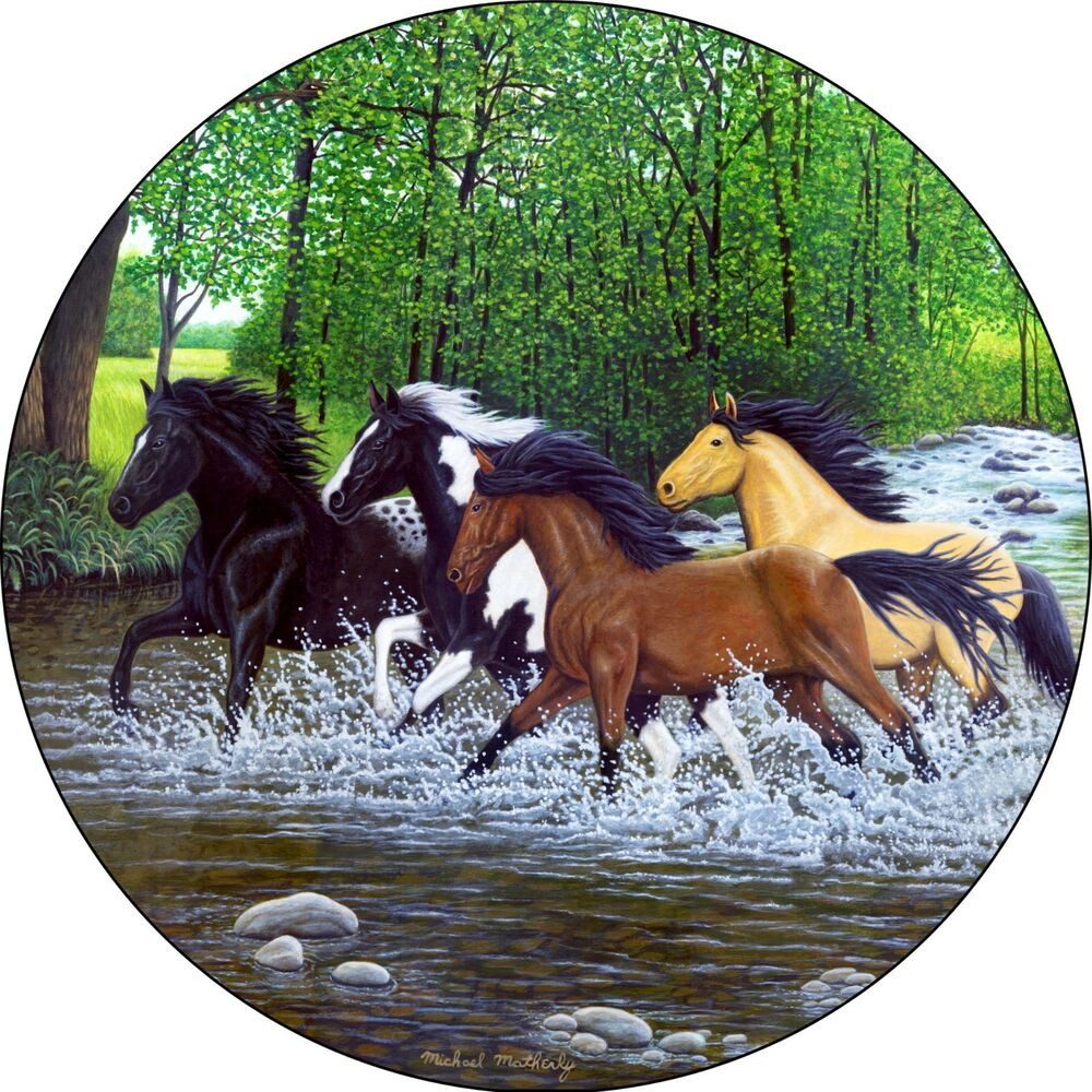 Horse 18 Free Spirits River Spare Tire Cover Jeep Rv