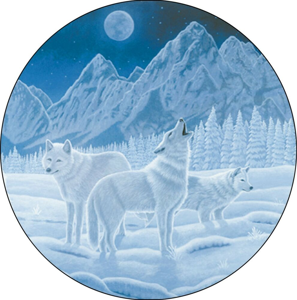 List Of Tire Sizes >> Wolf #1 Guardian of Night Spare Tire Cover Jeep RV Camper VW etc(all sizes avail | eBay