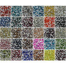 720pcs Silverfoiled DMC Crystal Glass Rhinestones Choose Your Colors And Sizes
