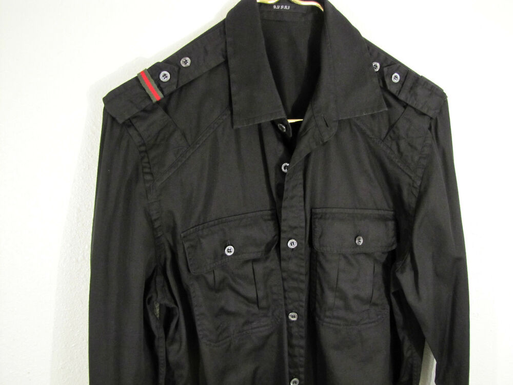 af2d93494 Xl In Black For Men Gucci Clothing Men Shirt: GUCCI CASUAL SHIRT GUCCI  MILITARY STYLE SHIRT SIZE MEN'S