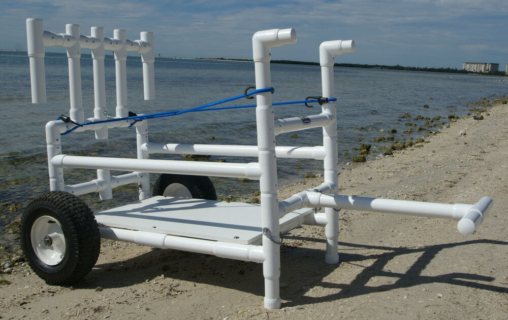 Fishing cart heavy duty wide wheels ebay for Folding fishing cart