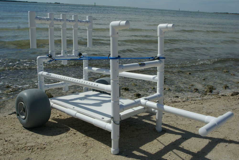 Fishing cart heavy duty pvc with xtra wide wheeleez for Folding fishing cart