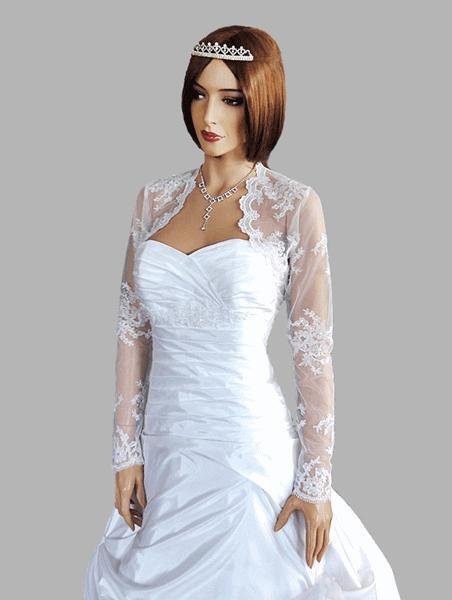 New womens wedding lace bolero bridal shrug jacket long for Womens dress jacket wedding