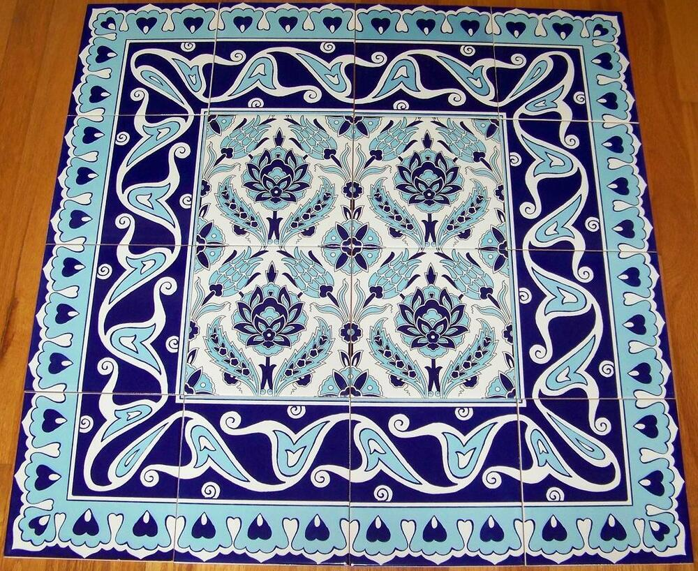 CLEARANCE Blue Iznik Floral Border 32\