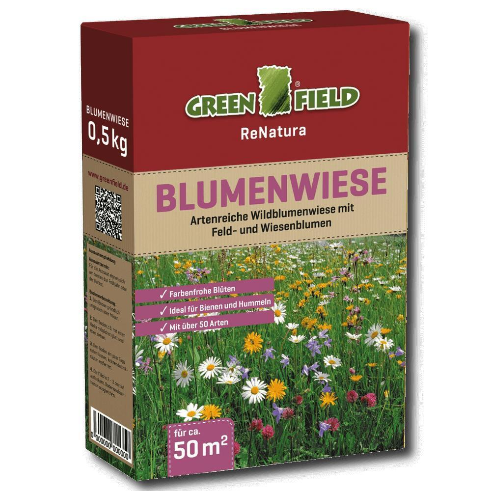 greenfield blumenwiese 500 g blumen wiese samen gras. Black Bedroom Furniture Sets. Home Design Ideas