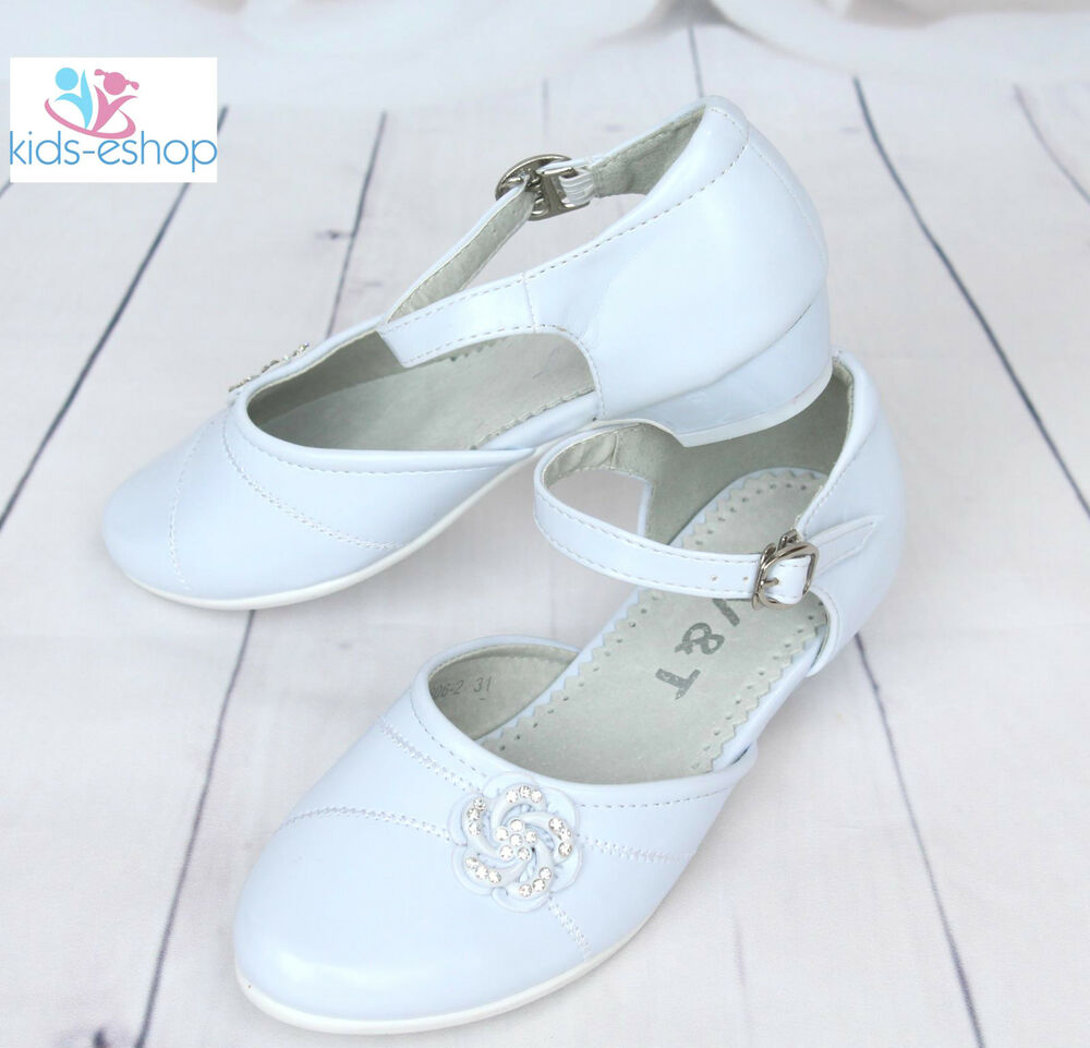 Girls White Shoes Bridesmaid Communion Formal Party Shoes