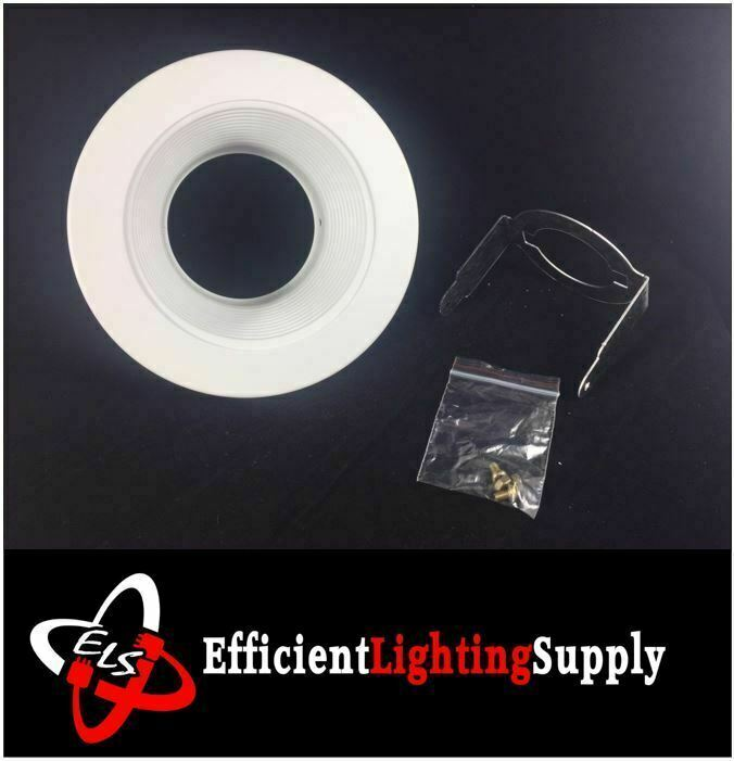 4 INCH RECESSED CAN LIGHT STEP TRIM BAFFLE 120V WHITE REPLACE Halo 993W