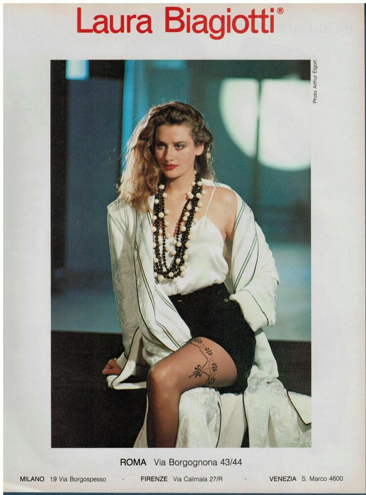 1986 Isabelle Townsend For Laura Biagiotti Pantyhose Magazine Print Ad Ebay