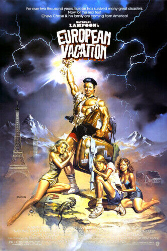 national lampoon's EUROPEAN VACATION movie poster CHEVY ...