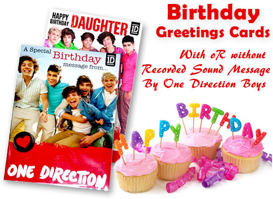 Official One Direction Birthday Card With Wo Sound Message For