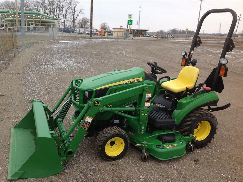 John Deere Compact Tractor Attachments : John deere e compact tractor with h loader