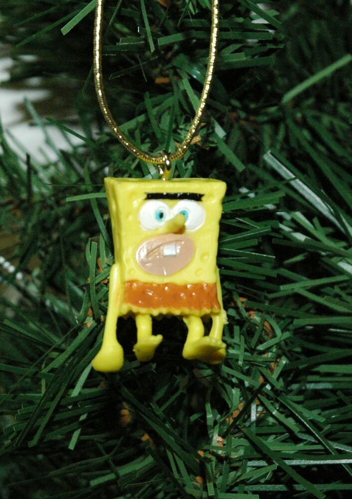 spongebob caveman mini christmas ornament