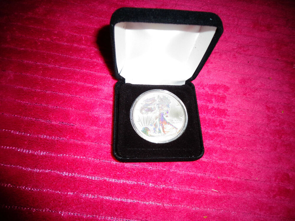 2004 American Silver Eagle Silver Hologram 1 Troy Oz One