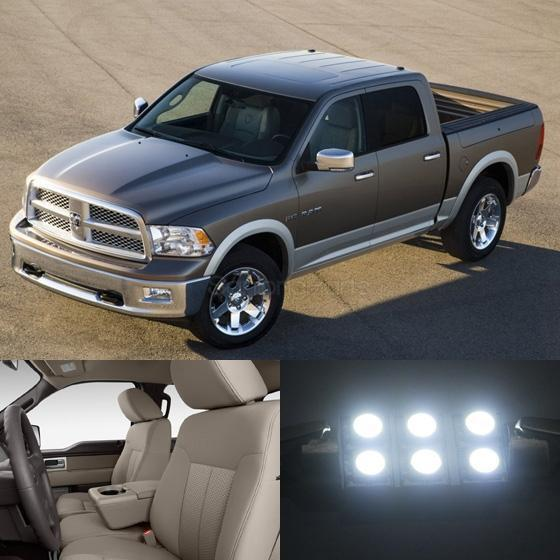 7x White Led Light Bulbs Interior Package For Dodge Ram 1500 2009 2015 Ebay