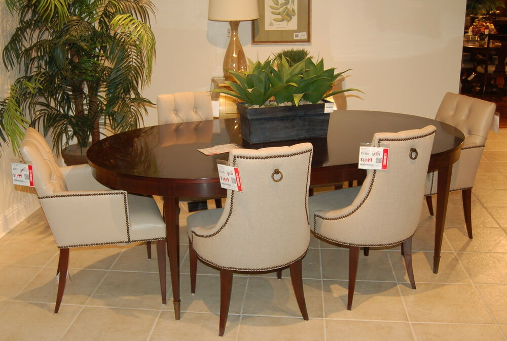 baker dining room table and chairs baker furniture pheasant mahogany yves dining table 8856