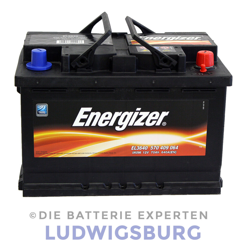 energizer autobatterie 70ah 640a el3640 geladen und wartungsfrei ebay. Black Bedroom Furniture Sets. Home Design Ideas