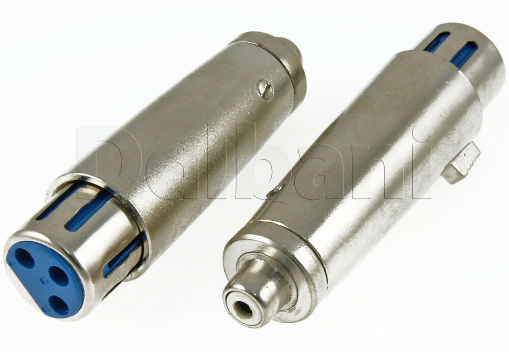 3 Pin Xlr Jack To Rca Jack Connector 15 2150 Ebay
