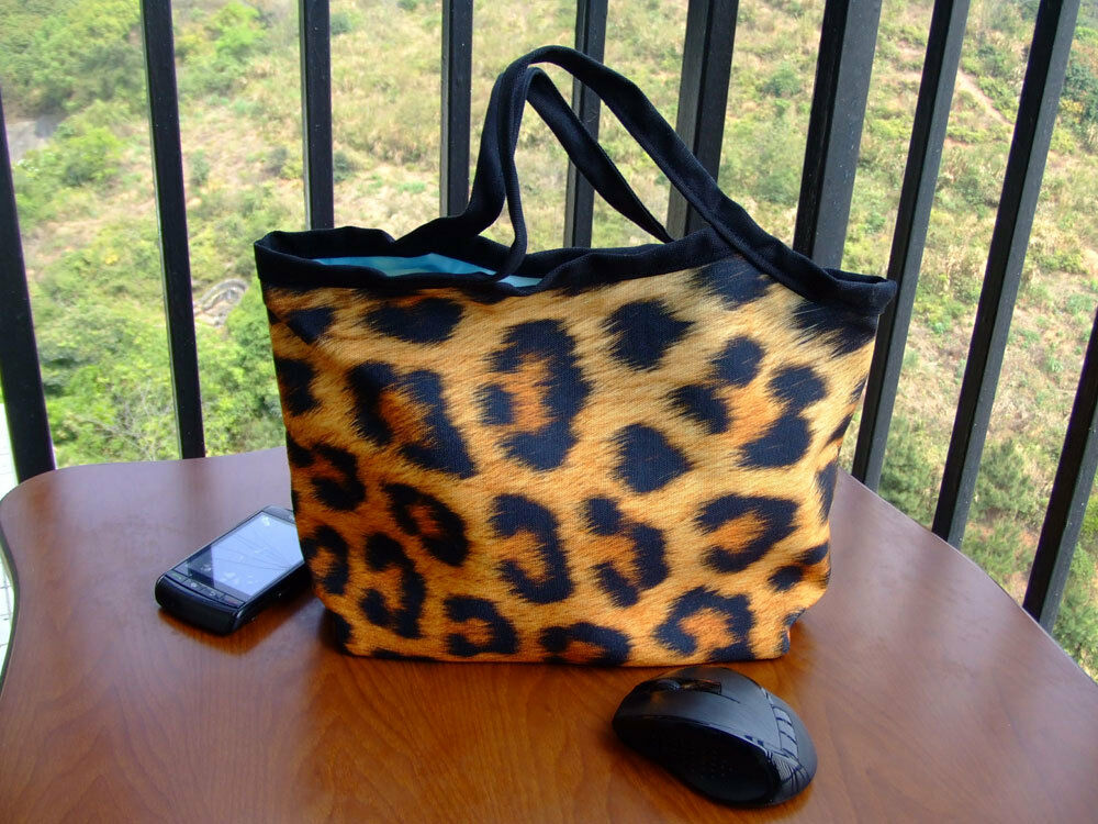 New Leopard Image Lunch Tote Shopping Bag Handbag For