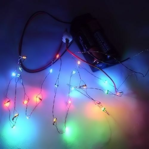 26 working color led christmas lights battery operated miniatures for dollhouse ebay - Dollhouse Christmas Lights