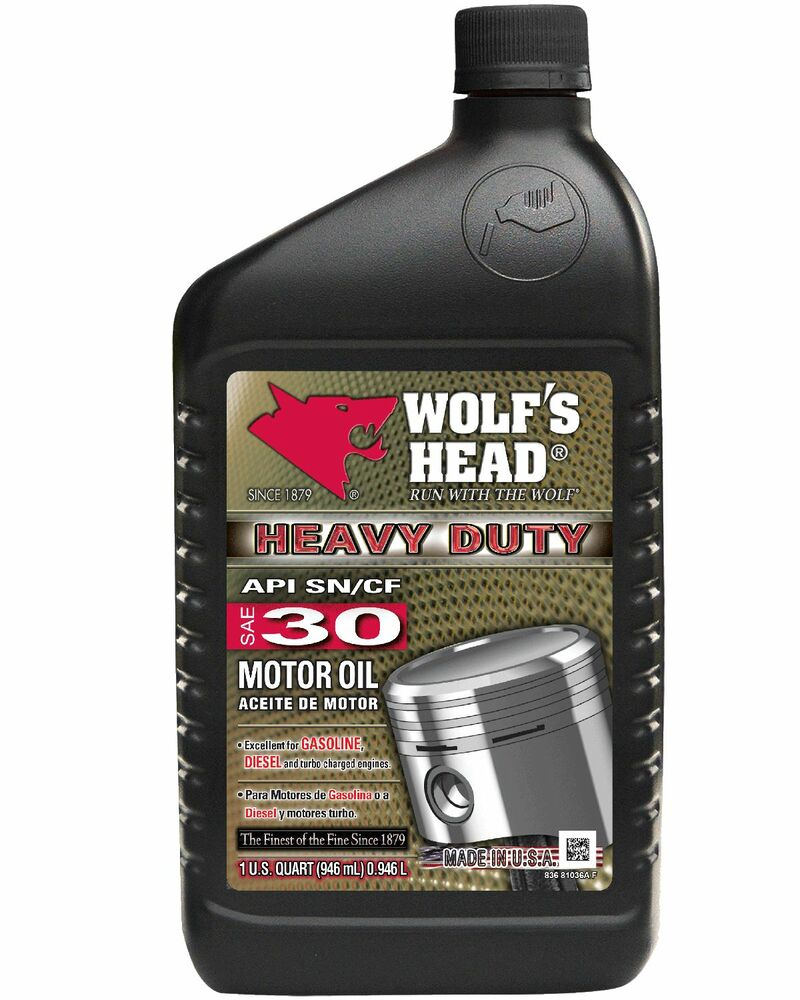 wolf 39 s head heavy duty sae 30 motor oil 2 cases 24