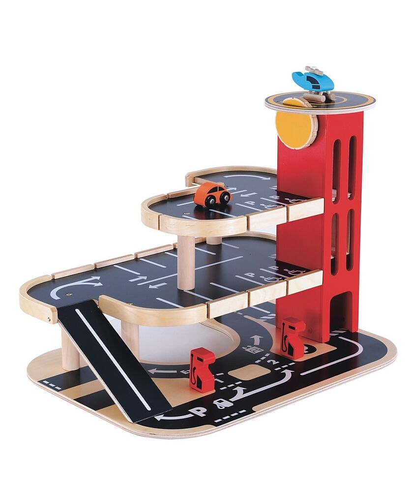 Brand New Elc Wooden Toy Play Set Garage With Car