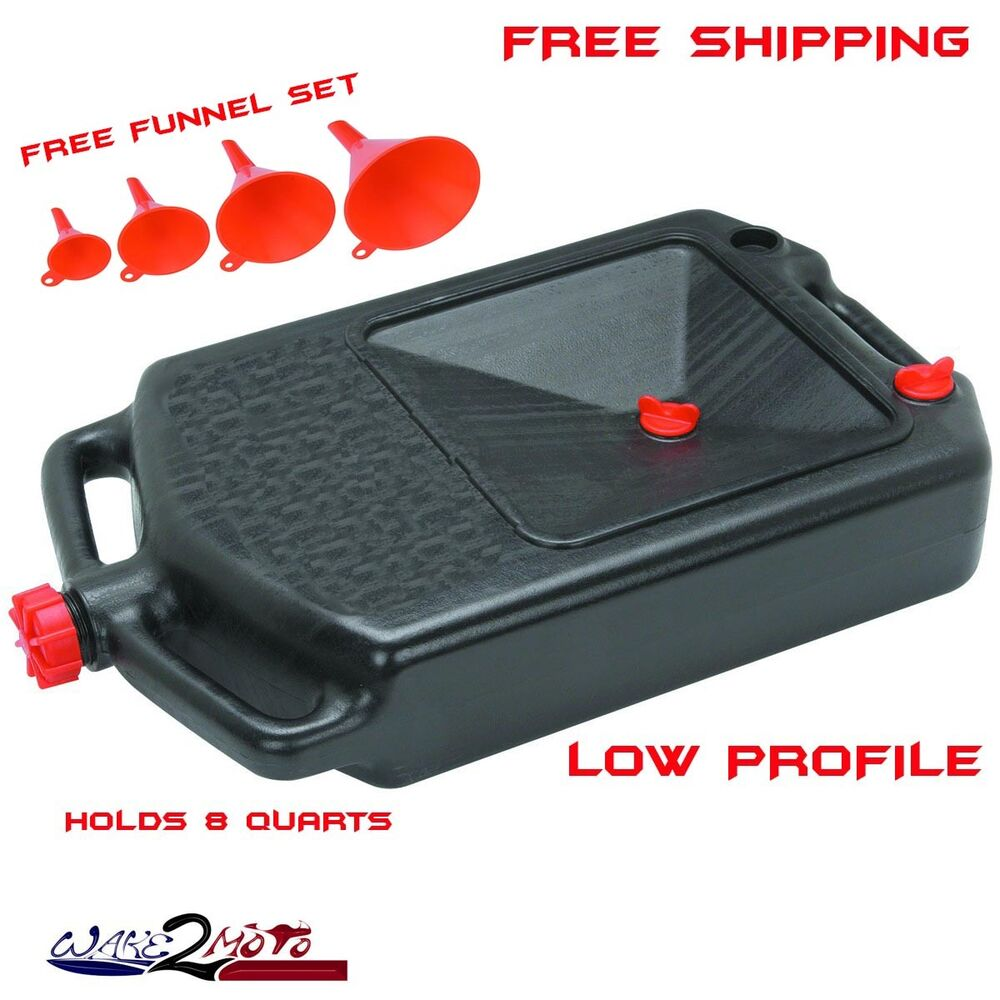 Oil Drain Change Storage Container Pan Motorcycle Harley