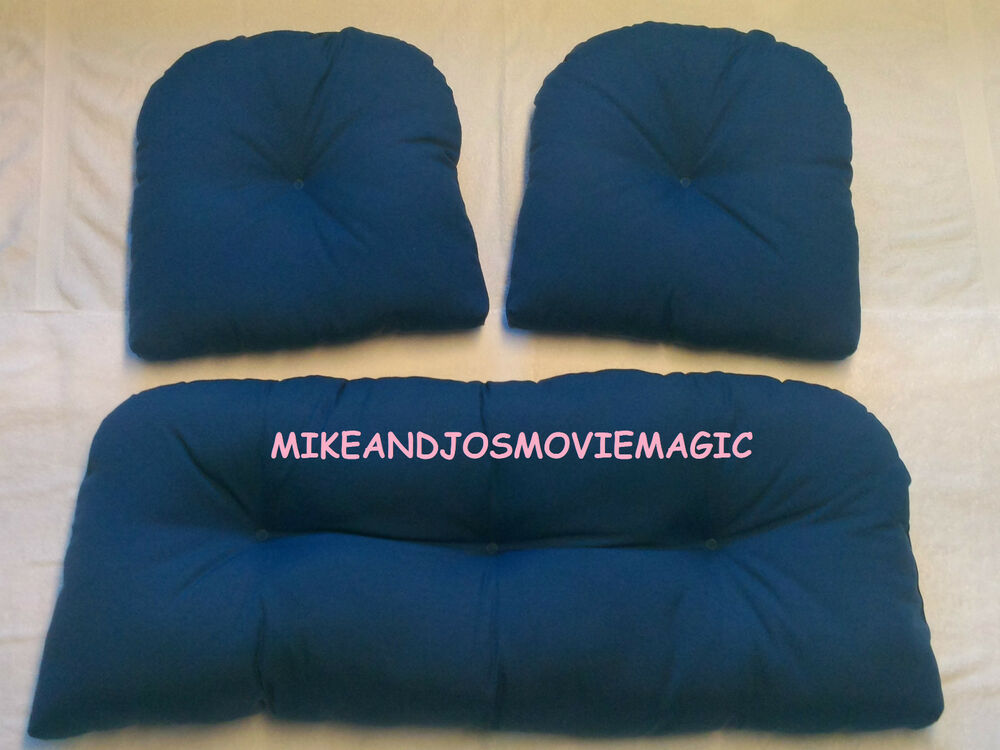 replacement cushions for indoor outdoor wicker furniture solids ebay. Black Bedroom Furniture Sets. Home Design Ideas