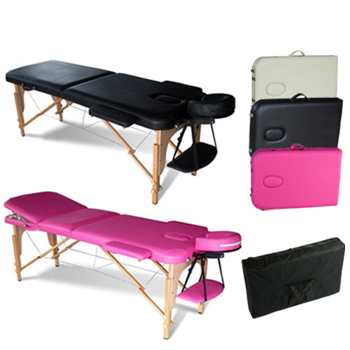 Portable folding massage table therapy beauty salon tattoo for Table for beauty salon